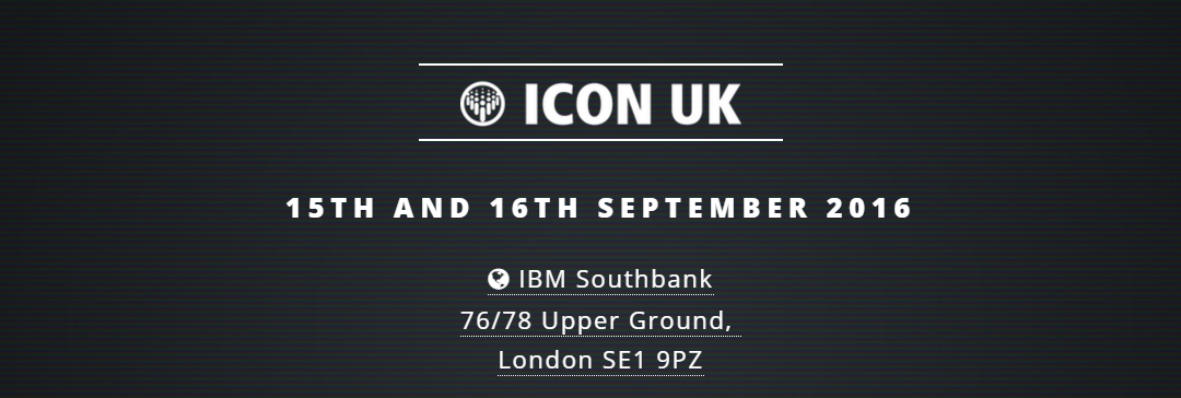 Join us at ICON UK on 15th and 16th of September